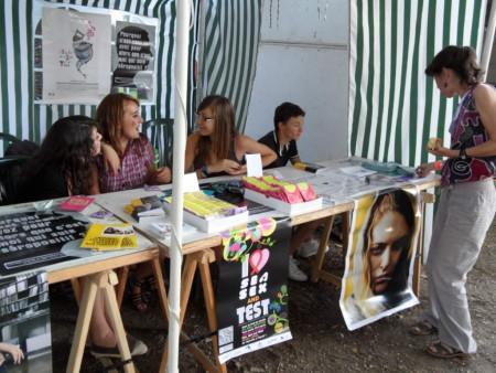 Stand de Prév. RESAIDA - Nuits Atypiques 2011 - animé par les jeunes - 2