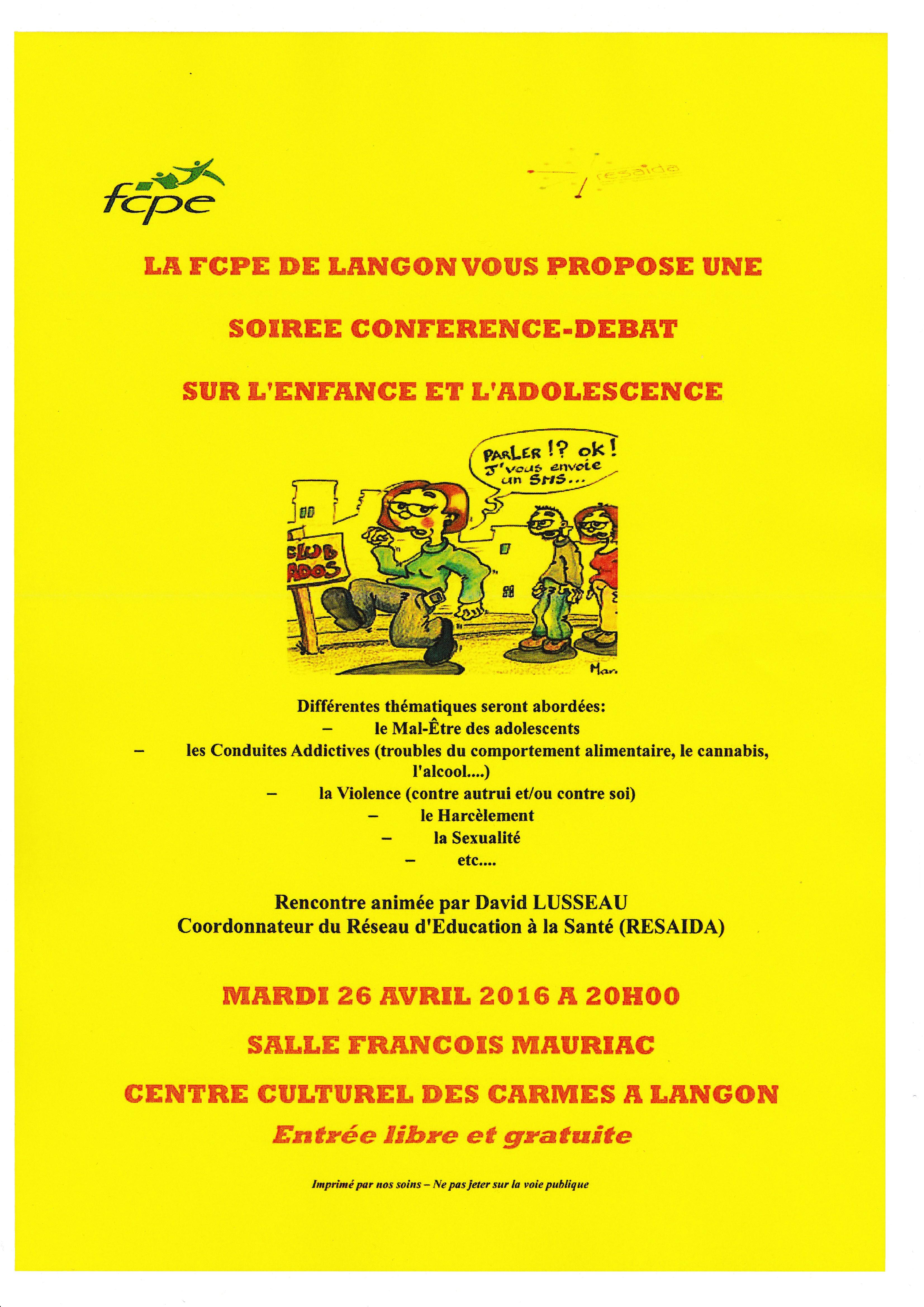 Affiche conf. 26 avril 2016- Langon