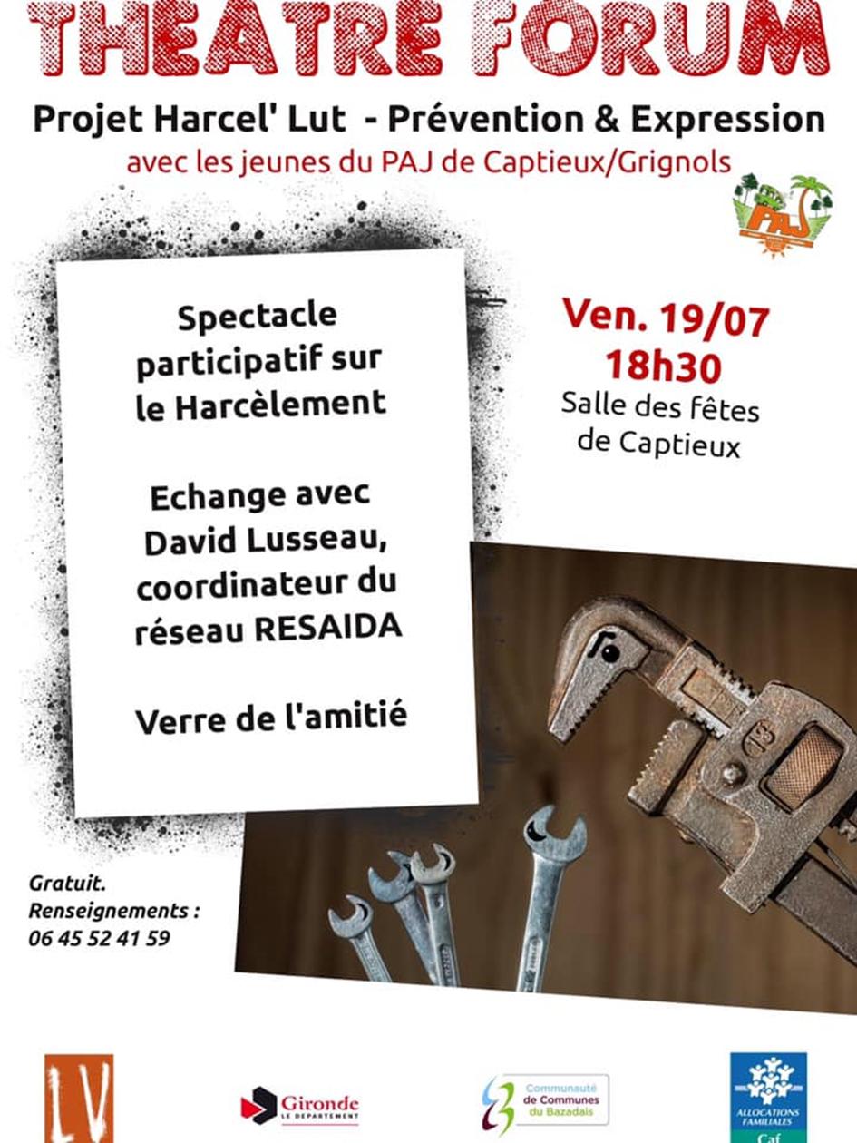 Affiche Théâtre-Forum 19 juillet 2019 - Captieux