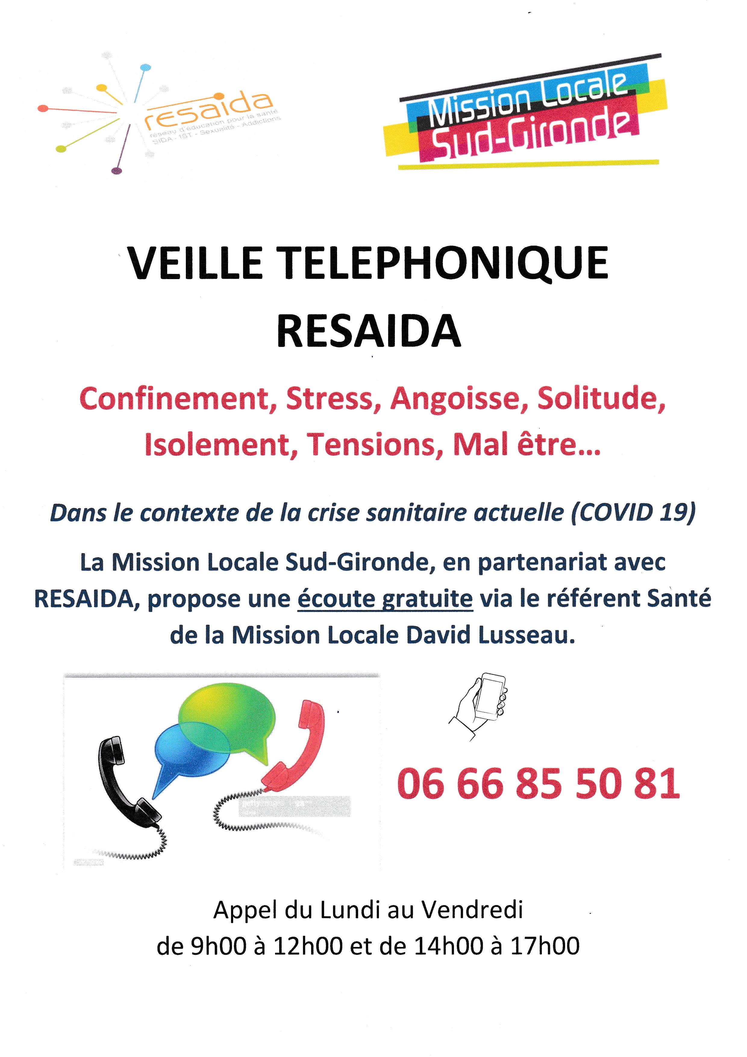 Veille téléphonique - Crise COVID19